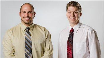 Les fondateurs de Laserax, de gauche à droite: Alex Fraser & Xavier P. Godmaire