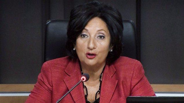 La présidente de la commission, France Charbonneau