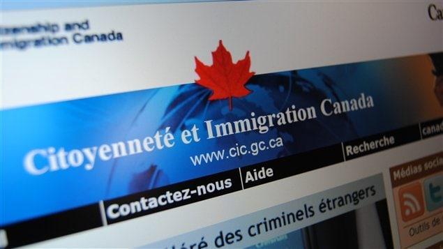 إحدى صفحات موقع وزارة المواطنة والهجرة الكندية