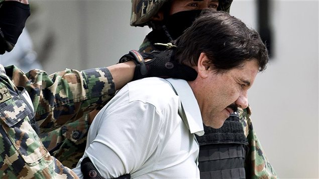 Arrestation de Joaquin «El Chapo» Guzman lors de son arrestation.