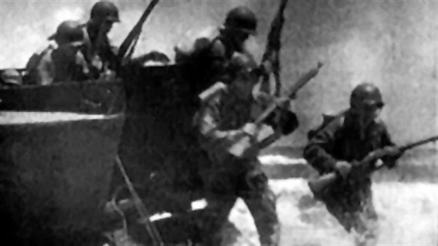 Le débarquement des alliés en normandie, lors de la deuxième guerre