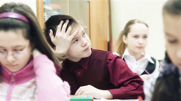 Enfant souffrant de déficit d'attention