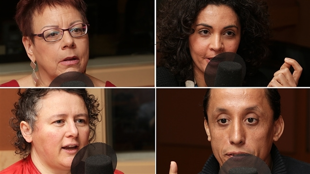 Marie McAndrew, Yara El-Ghadban, Alexa Conradi et Hassan Serraji discutent d'intolérance.