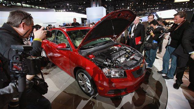 La Chevrolet Cruze 2014 a été présentée à un salon de l'auto de Chicago en février 2013. (archives)