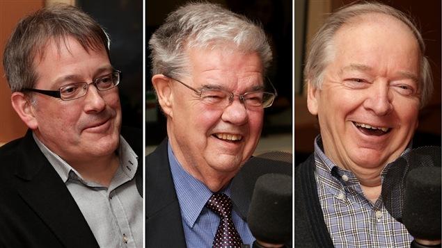 Philippe Couillard, Bernard Landry et François Legault, qui portent le même nom que des politiciens connus.