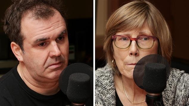 L'écrivain Patrick Senécal et Danièle Simpson, présidente de l'UNEEQ.