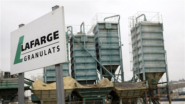 Une des usines de Lafarge en France