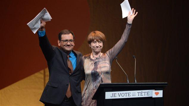 Andrés Fontecilla et Françoise David