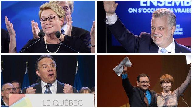 Les 4 chefs de parti