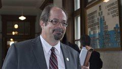 Le député libéral de Jacques-Cartier, Geoffrey Kelley, en juin 2011, à l'Assemblée nationale.