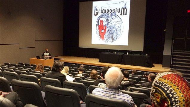 Le mot d'ouverture du Grimposium à la salle Cinéma J.A. de Sève de l'Université Concordia