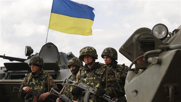 Des soldats ukrainiens dans l'est du pays.