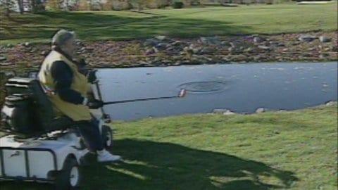 Lise Thibault au golf en 1999.