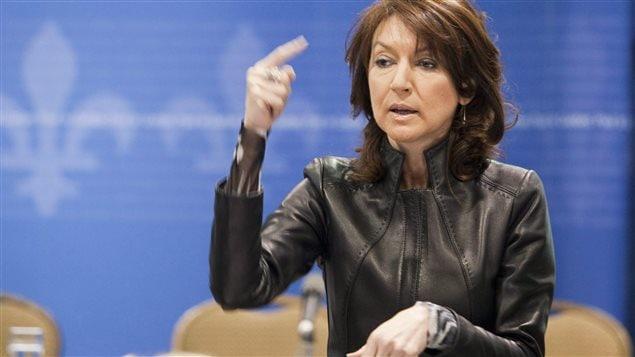 Nathalie Normandeau alors qu'elle était ministre des Ressources naturelles (février 2011)