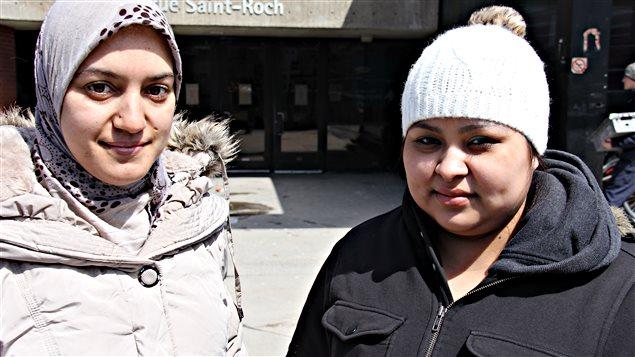 La Marocaine Badia Dakous et la Salvadorienne Adriana Sanchez