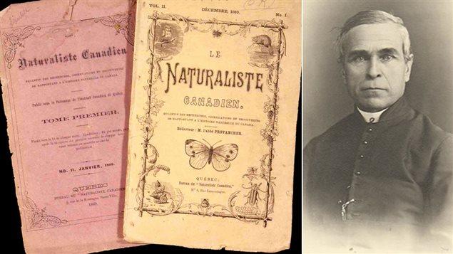 Exemplaires de la revue Le naturaliste canadien et portrait de Léon Provancher