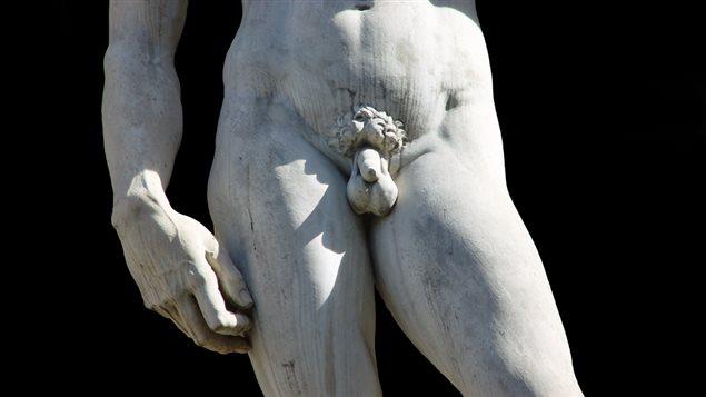 Partie de la sculpture de David, réalisée par Michel-Ange