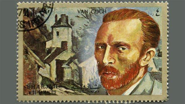 Un timbre à l'effigie de Vincent Van Gogh