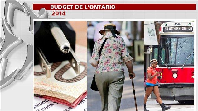 Tarifs d'électricité, aide aux retraités et aux aînés, transport en commun: certains des thèmes du budget ontarien 2014.