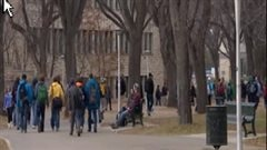 Étudiants au campus de l'Université de la Saskatchewan à Saskatoon (archives)