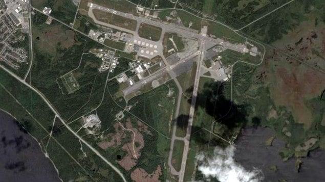 Vue aérienne de l'aéroport international de Gander.