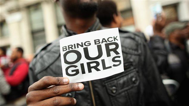 Campagne BringBackOurGirls pour les jeunes écolières enlevées par Boko Haram.