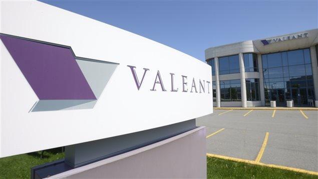 Le siège social de Valeant, à Montréal