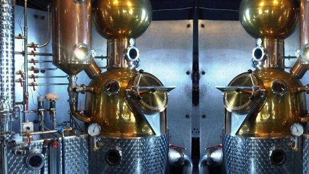 La micro-distillerie Ironworks en Nouvelle-Écosse.