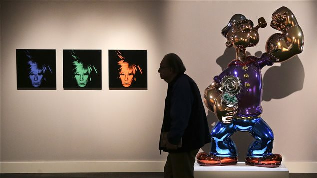 Les oeuvres de Warhol et Koons exposées à New York.