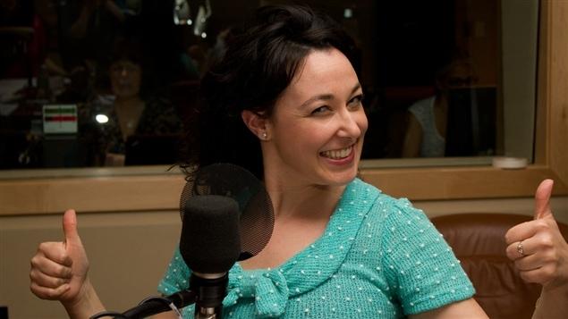 L'animatrice, chroniqueuse et auteure Claudia Larochelle.