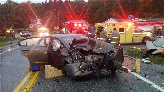 Accident causé par l'alcool au volant