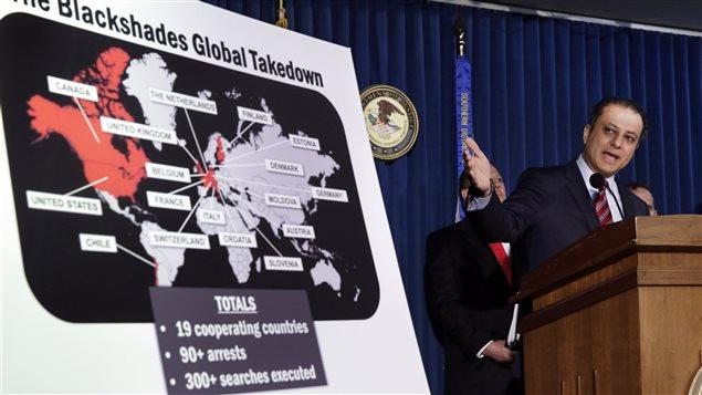 Le secrétaire à la Justice pour le district sud de New York, Preet Bharara, a annoncé, lors d'une conférence de presse lundi, des accusations contre une centaine de cybercriminels à travers le monde.