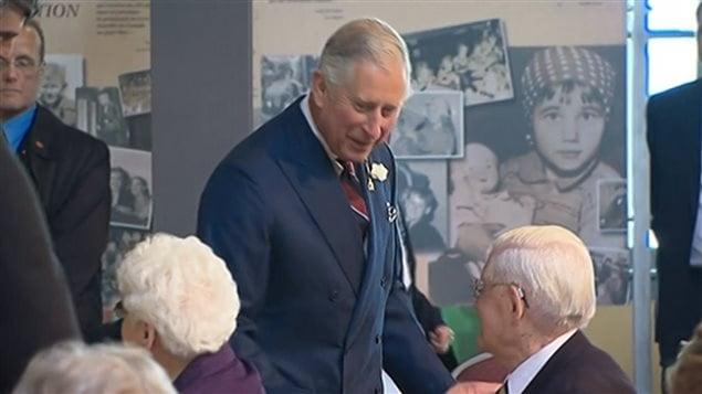 Le prince Charles a fait cette déclaration lors d'une visite au Musée canadien de l'immigration, à Halifax.