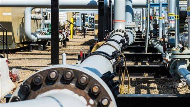 Une installation de traitement de gaz naturel liquéfié en Colombie-Britannique.