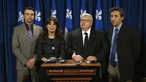 Des députés des quatre principaux partis au Québec qui sont en faveur du projet de loi «Mourir dans la dignité». Radio-Canada.