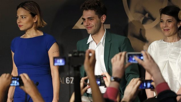 Conférence de presse de Xavier Dolan accompagné des actrices Suzanne Clément et Anne Dorval