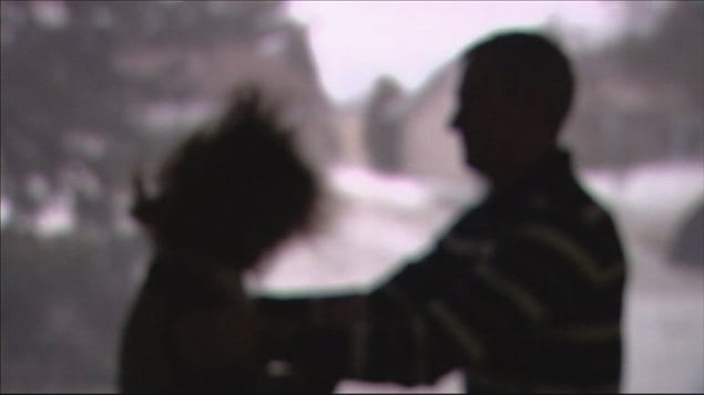 Scène de violence conjugale (simulation)