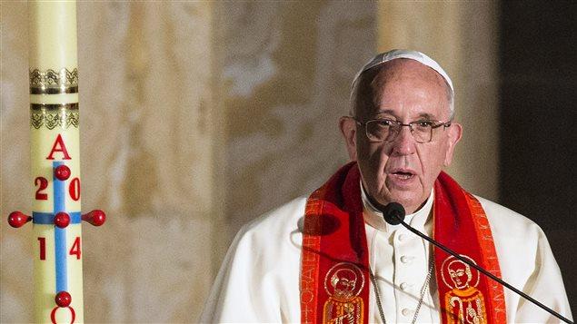 Le pape François lors d'une messe à Jérusalem, le 26 mai 2014.