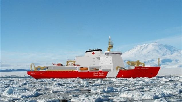 Maquette du futur brise-glace Diefenbaker