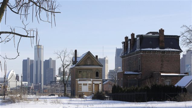 Une maison abandonnée dans le quartier de Brush Park, à Détroit PHOTO : AP/Carlos Osorio