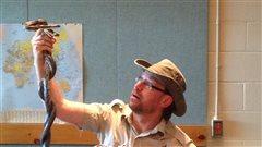 Little Ray's Reptile Zoo de passage en studio à Sept-Îles.
