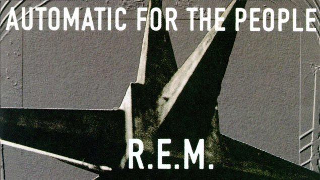 Détail de la pochette de l'album de R.E.M. <em>Automatic for the poeple</em>