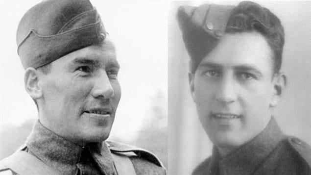 Le sergent Harvey Dreaver (gauche) et le caporal Leo Jacques sont deux soldats sur lesquels les membres du Club du Souvenir, de l'École primaire St. Andrew à Regina, ont fait des recherches.