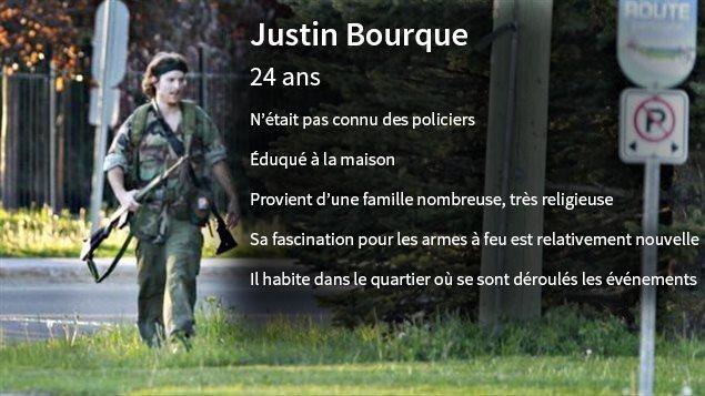 Bref portrait de Justin Bourque, principal suspect de la fusillade à Moncton