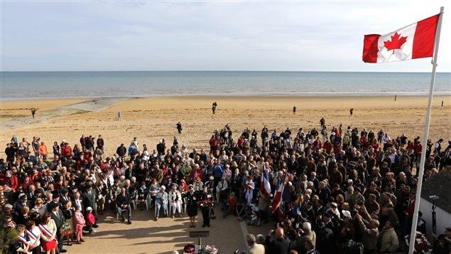 Cérémonie à Bernières-sur-Mer à l'occasion du 70e anniversaire du débarquement de Normandie