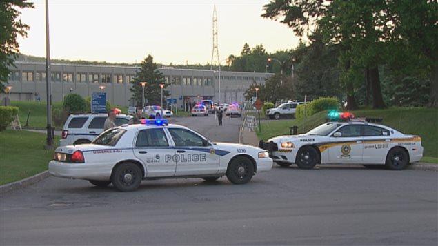 La SQ et la police de Québec ont été déployées sur les lieux de l'évasion.