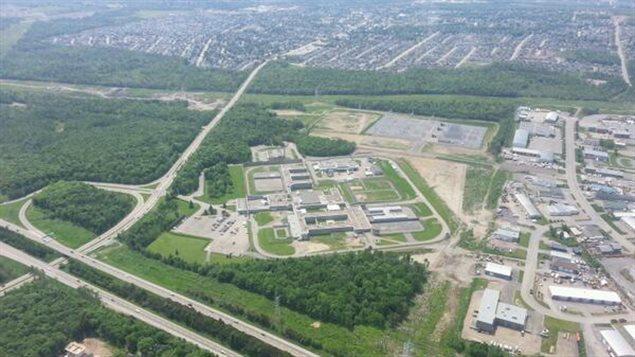 Vue aérienne de la prison d'Orsainville