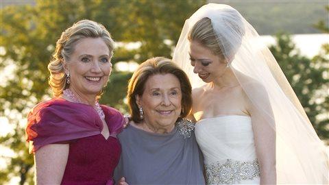 Hillary Clinton au mariage de sa fille Chelsea