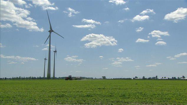 Des éoliennes en Montérégie