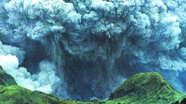 Le volcan Pinatubo quelques jours après l'éruption de juin 1991